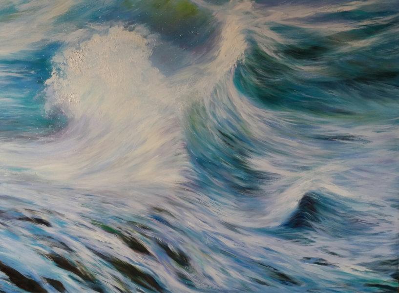 Wandbild in Ölfarbe