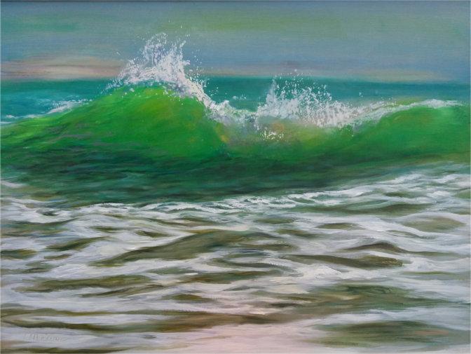 Gemälde auf Leinwand in Ölfarbe